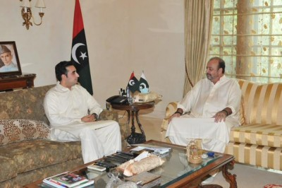 Bilawal Bhutto And  Agha Siraj Durrani