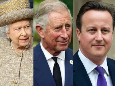 Elizabeth, Prince Charles and Cameron