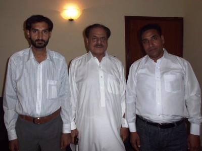 Hamid Gul and Irfan Tahir