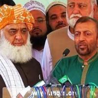 Maulana Fazlur Rehman with Farooq Sattar