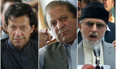 Nawaz, Imran and Tahir ul Qadri