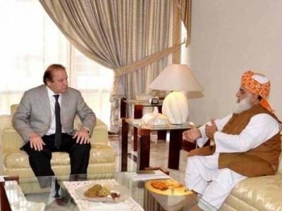 Nawaz Sharif  With Fazlurehman