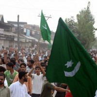 People Waving Pak Flag in Srinagar