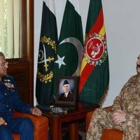 Raheel Sharif with Sohail Aman