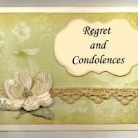 Regret and Condolences