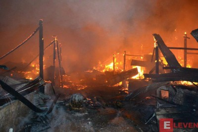 Rohingya Houses Burning in Sittwe
