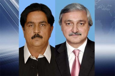 Siddiq Baloch and Jahangir Tareen