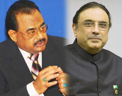 Zardari  And Altaf Hussain