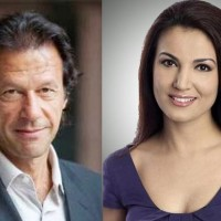 Imran khan with wife reham khan