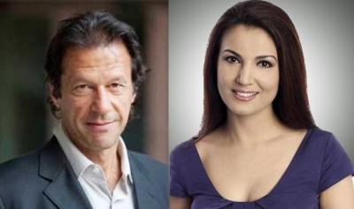 Imran khan with wife reham khan