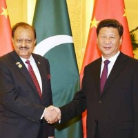 Mamnoon Hussain And Xi Jinping