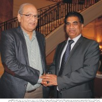 Mushahid Ullah Khan and Chaudhry Akhtar