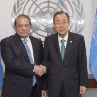Nawaz Sharif and Ban ki Moon