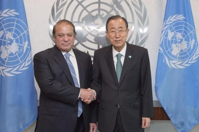 Nawaz Sharif and Ban ki Moon