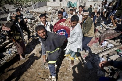 Saudi Arabia Leads Bombing