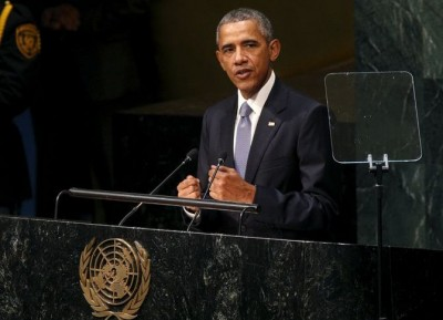UN General Assembly Obama Addressing