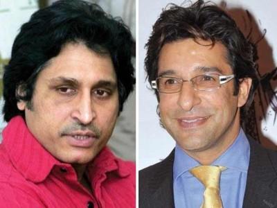 Waseem Akram and Rameez Raja