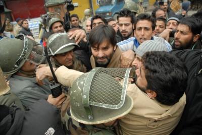 Yasin Malik Indian Forces Detained
