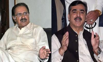 Yousuf Raza Gilani and Makhdoom Amin Fahim