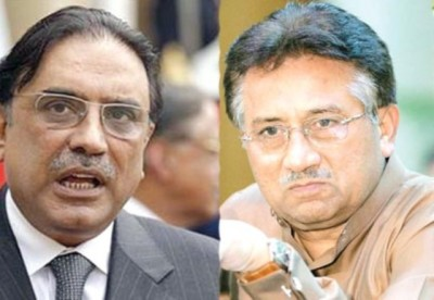 Zardari and Musharraf