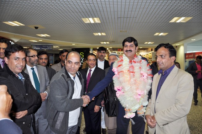 Chaudhry Fakhar ul Zaman Birmingham Airport Welcoming