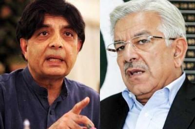 Chaudhry Nisar, Khawaja Asif