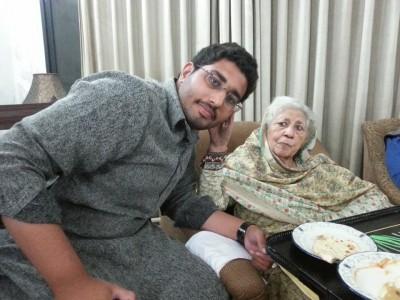 Farrukh with Bano Qudsia