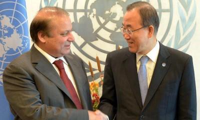 Nawaz Sharif and Ban Ki Moon Met