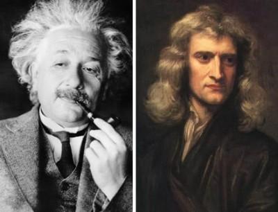 Newton and Einstein