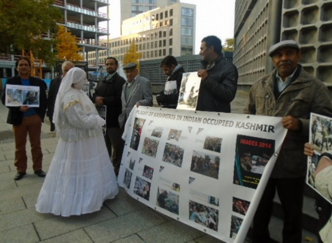 Protest Demonstration Against Human Rights Violations Kashmir