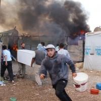 Refugee Camp Fire