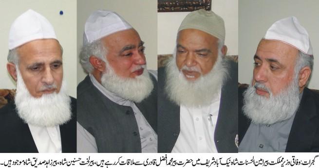 Amin Ul Hasnat Shah,Pir Afzal Qadri,Meeting
