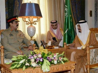 Army Chief and King Salman Meeting