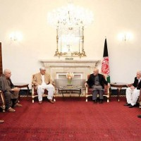 Ashraf Ghani and Pakistani Delegation Meeting