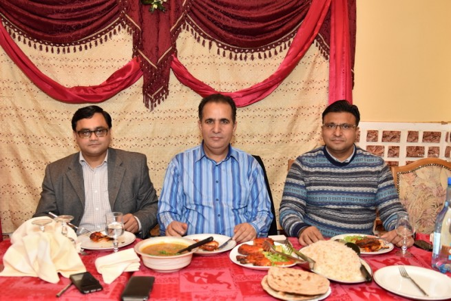 Dinner of Raja Manzoor Hussain in Paris