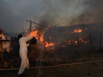 Huts Fire