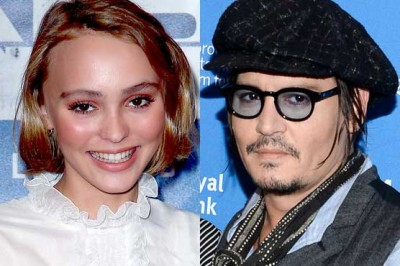 Johnny Depp with Daughter