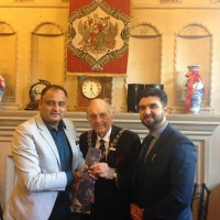 Kamran Khan and Waqzr Malik of their Community Service Awarded