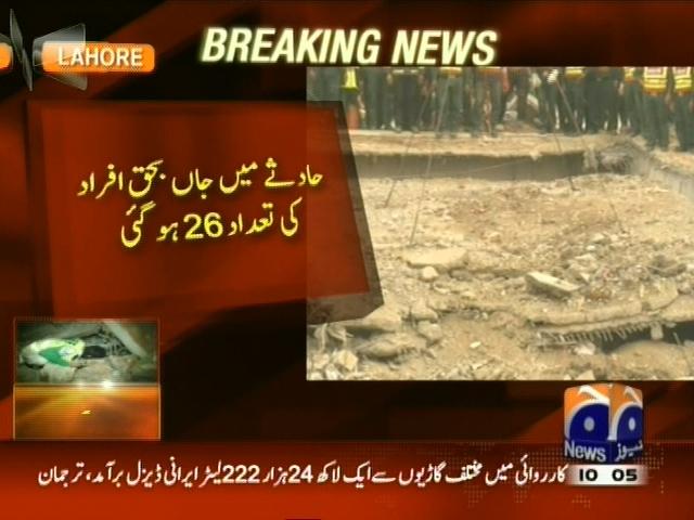 Lahore Falling Factory– Breaking News – Geo