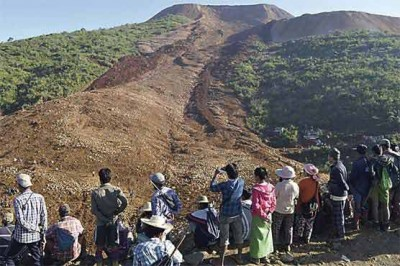 Myanmar Land Sliding
