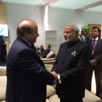 Nawaz Sharif and Modi Meating