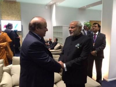 Nawaz Sharif and Modi Meating