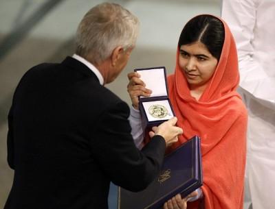 Nobel Peace Prize winner Malala Yousafzai