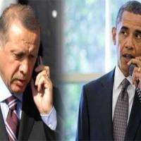 Obama Telephone Tayyip Erdogan