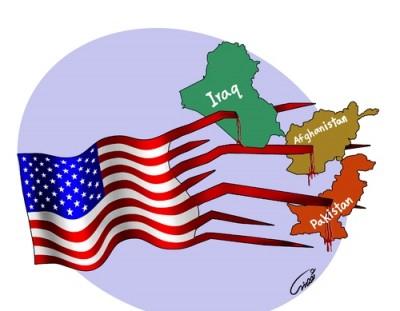 Pakistan, Afghanistan, Iraq