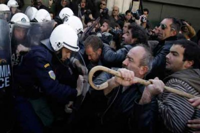 Police Farmers Clash
