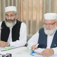 Siraj ul Haq and Liaqat Baloch