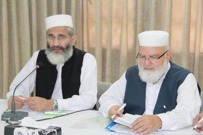 Siraj ul Haq and Liaqat Baloch