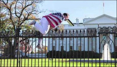 White House Man Jumps