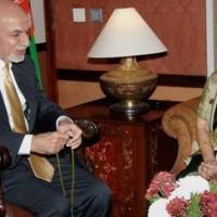 Ashraf Ghani and Sushma Swaraj